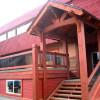 The Raging Elk Adventure Lodge - exterior and patio.