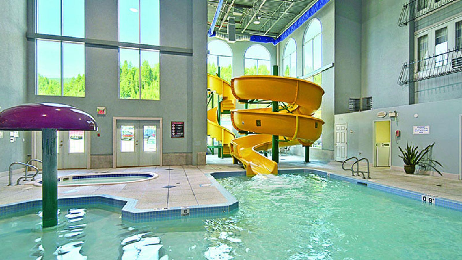 Enjoy the indoor pool and waterside.