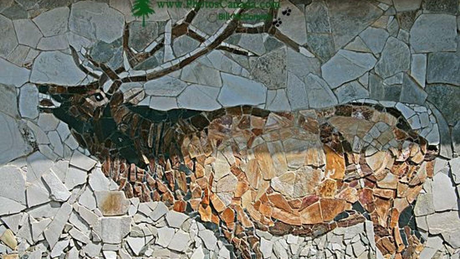 Stone Murals in Salmo near Nelson.