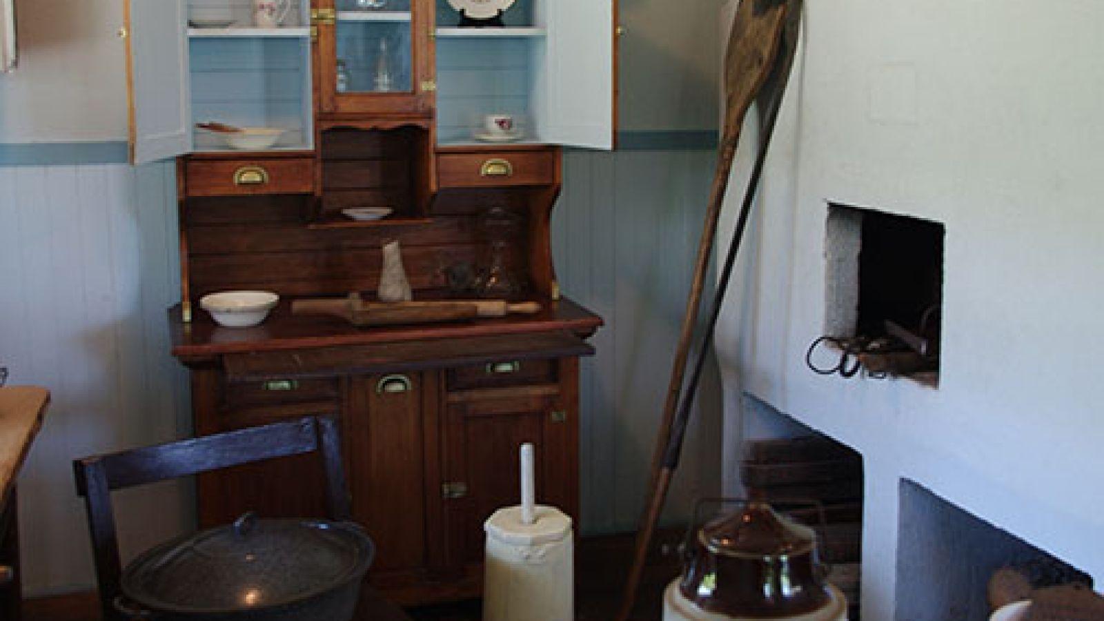 Communal kitchen.