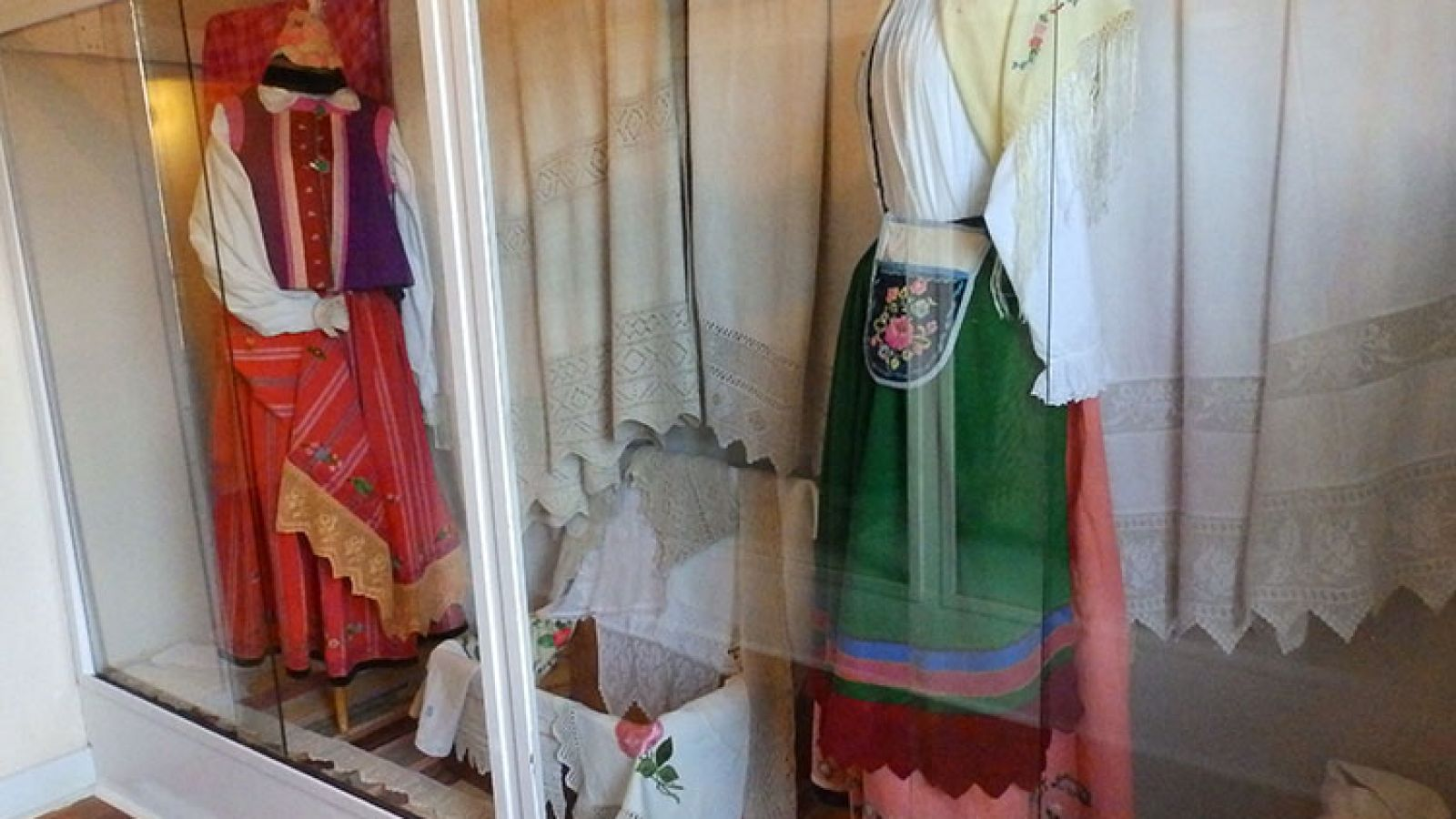 Textiles display.