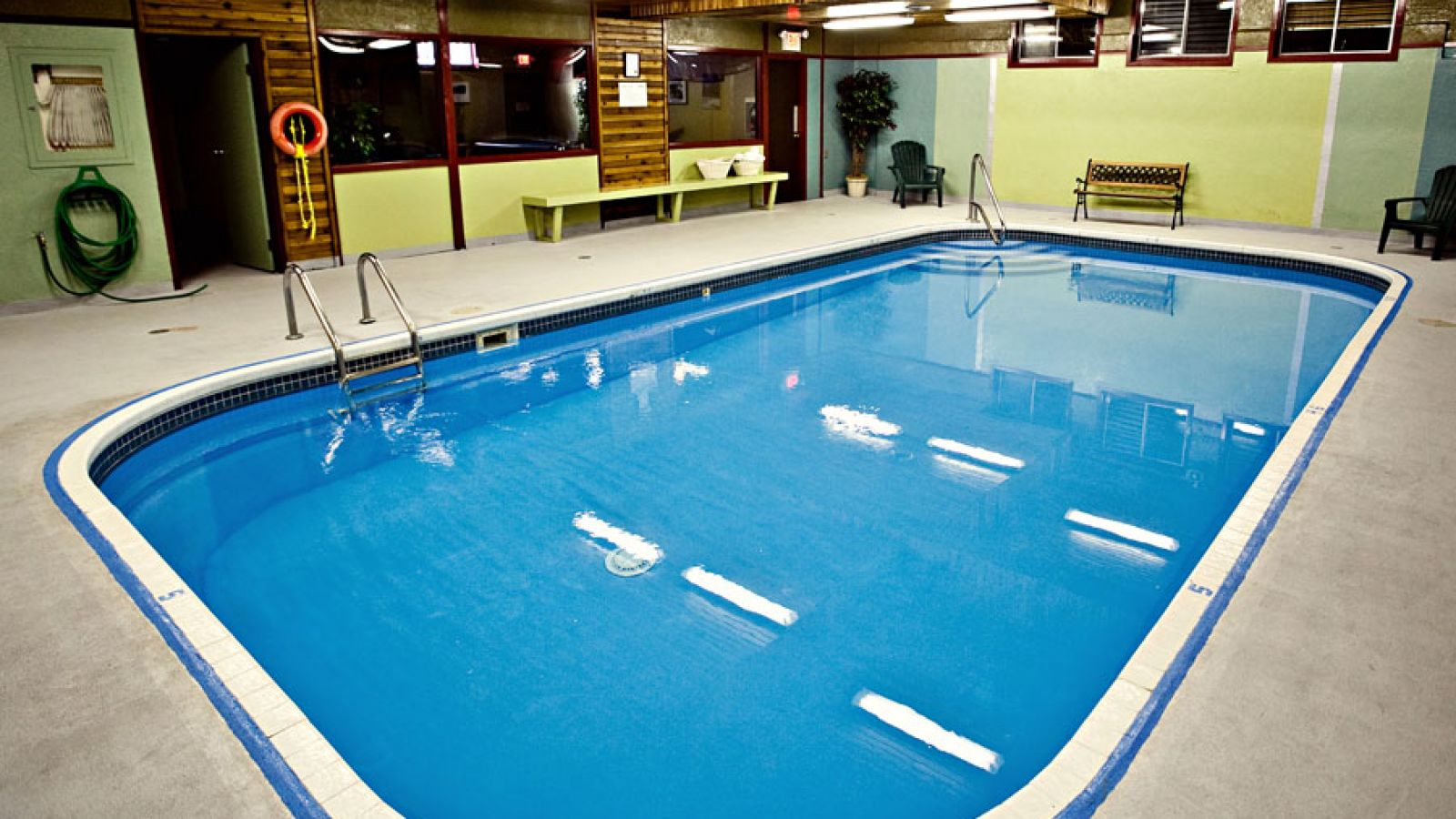 Enjoy the indoor pool year-round.