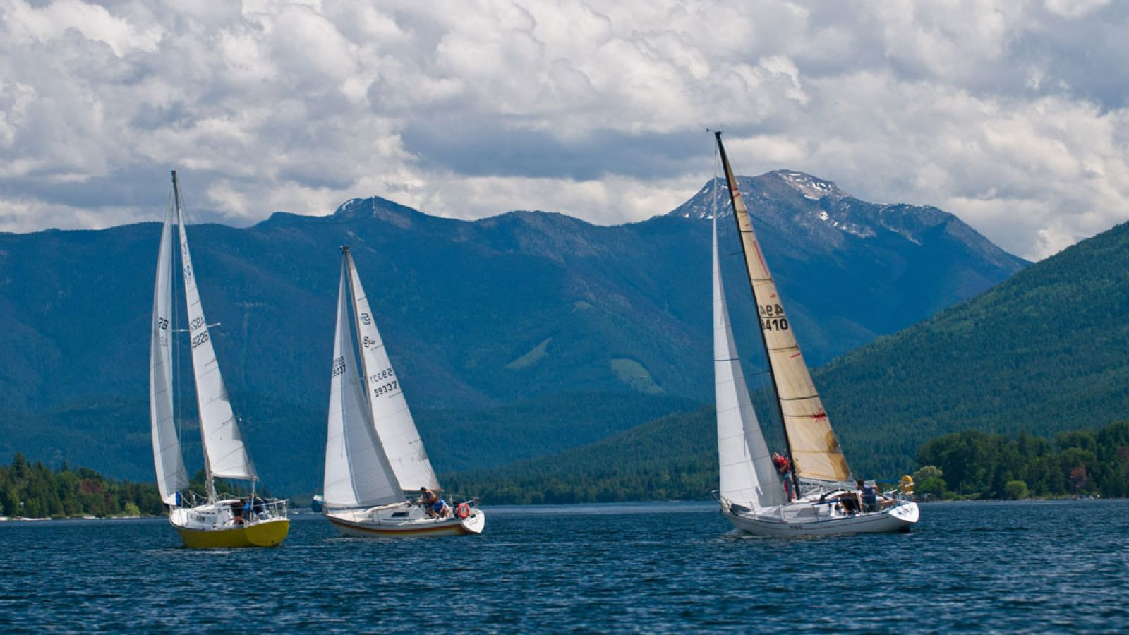 Sailing on Kootenay Lake.