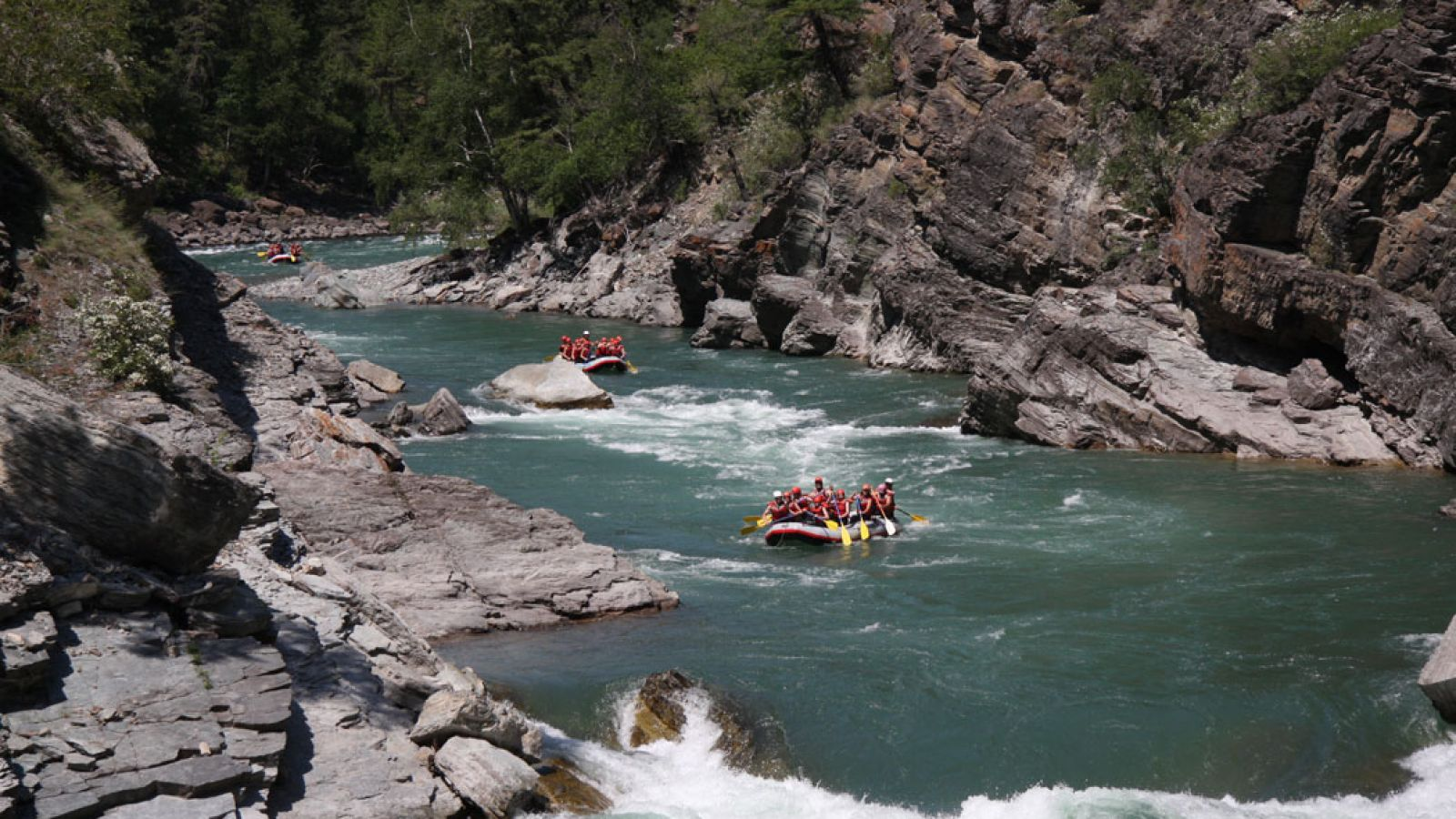 River rafting adventures on the Elk.