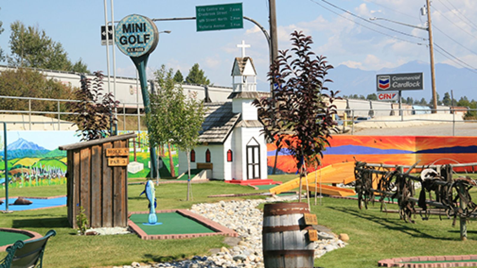 The on-site mini golf course is fun for the whole family.