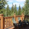 Enjoy the patio and mountain views.