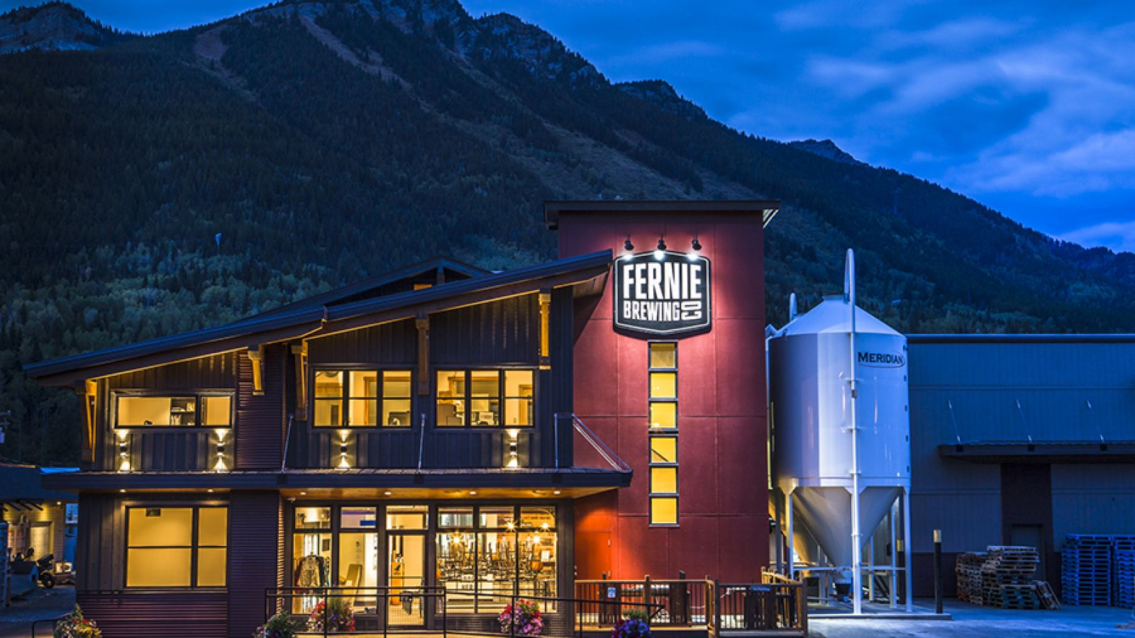 Fernie Brewing Company offers a tasting room and gift shop.