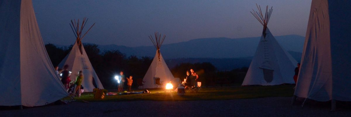 Lakeshore Resort & Campground: Tipi Cultural Campout